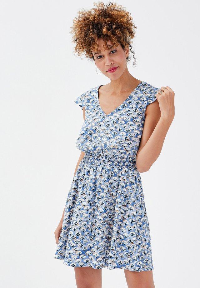 Korte jurk - bleu clair