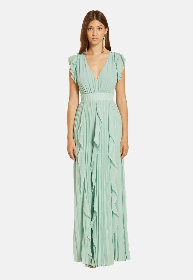 LUNGO PLISSÉ CON VOLANT - Maxi dress - verde