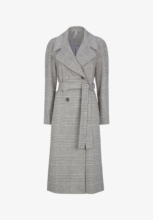 DOUBLE BREASTED WRAP - Płaszcz wełniany /Płaszcz klasyczny - grey