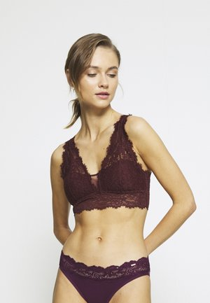 ROMANTIC PLUNGE BRALETTE - Bustier - royal berry