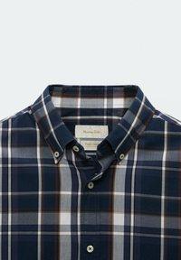 Massimo Dutti - SLIM FIT - Shirt - blue black denim - 2