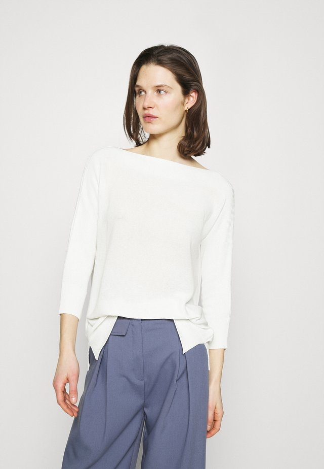 BOAT NECK BATWING - Jumper - offwhite