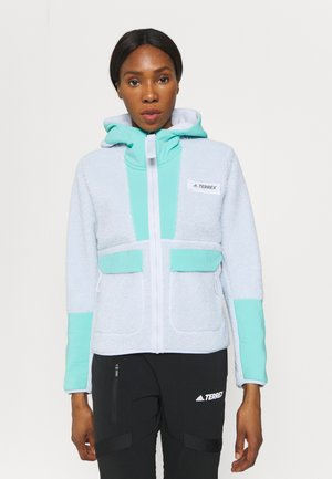 TERREX SHERPA HOODED - Veste polaire - acid mint/halo blue