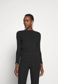 J.CREW - BATEAU NECKLINE - Bluzka z długim rękawem - black - 0