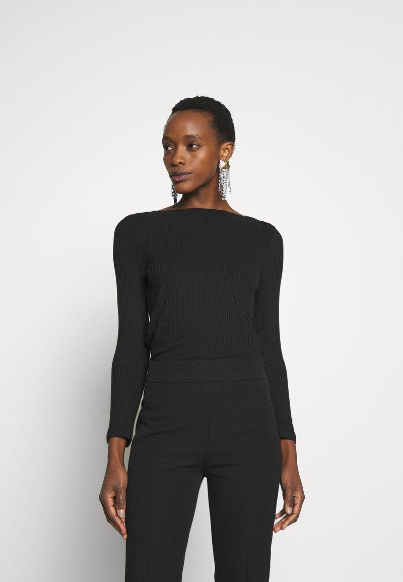 J.CREW - BATEAU NECKLINE - Bluzka z długim rękawem - black