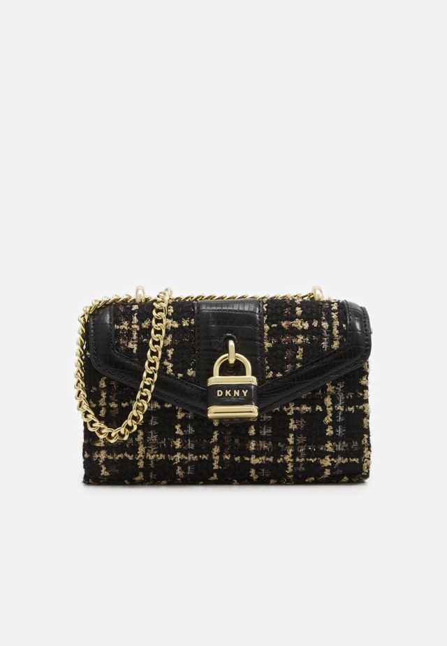 ELLA MINI FLAP SHOULDER BOUCLE - Across body bag - black/gold