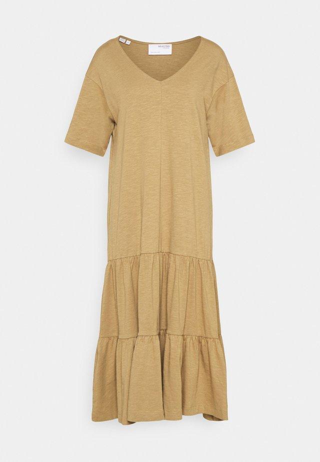 SLFREED MIDI DRESS - Maxi dress - kelp