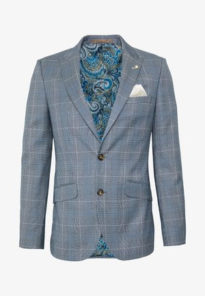 LIGHT POW CHECK - Suit jacket - blue