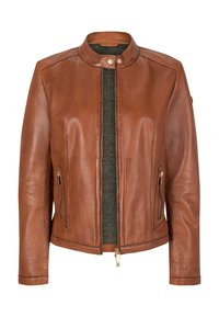 Milestone - LEDERJACKE - Leather jacket - dunkel/cognac - 2
