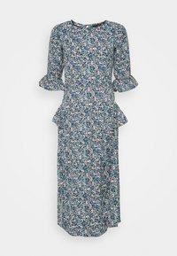 DITSY MIDI FRILL DRESS - Denní šaty - blue
