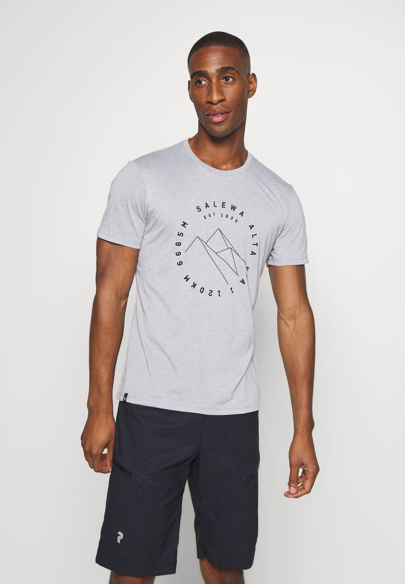 Salewa - ALTA VIA DRY TEE - T-shirt med print - heather grey