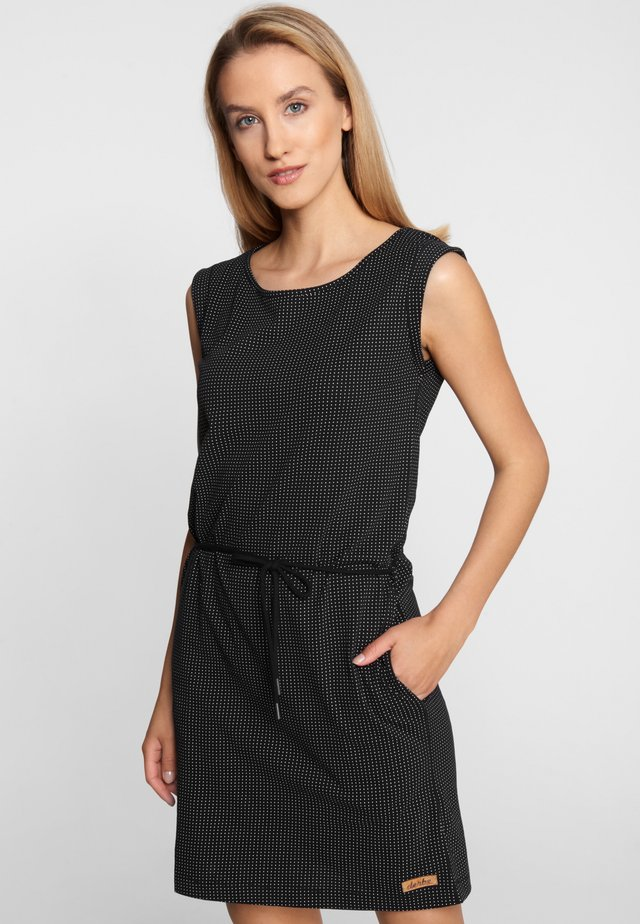 PETITE DOTS - Jersey dress - black