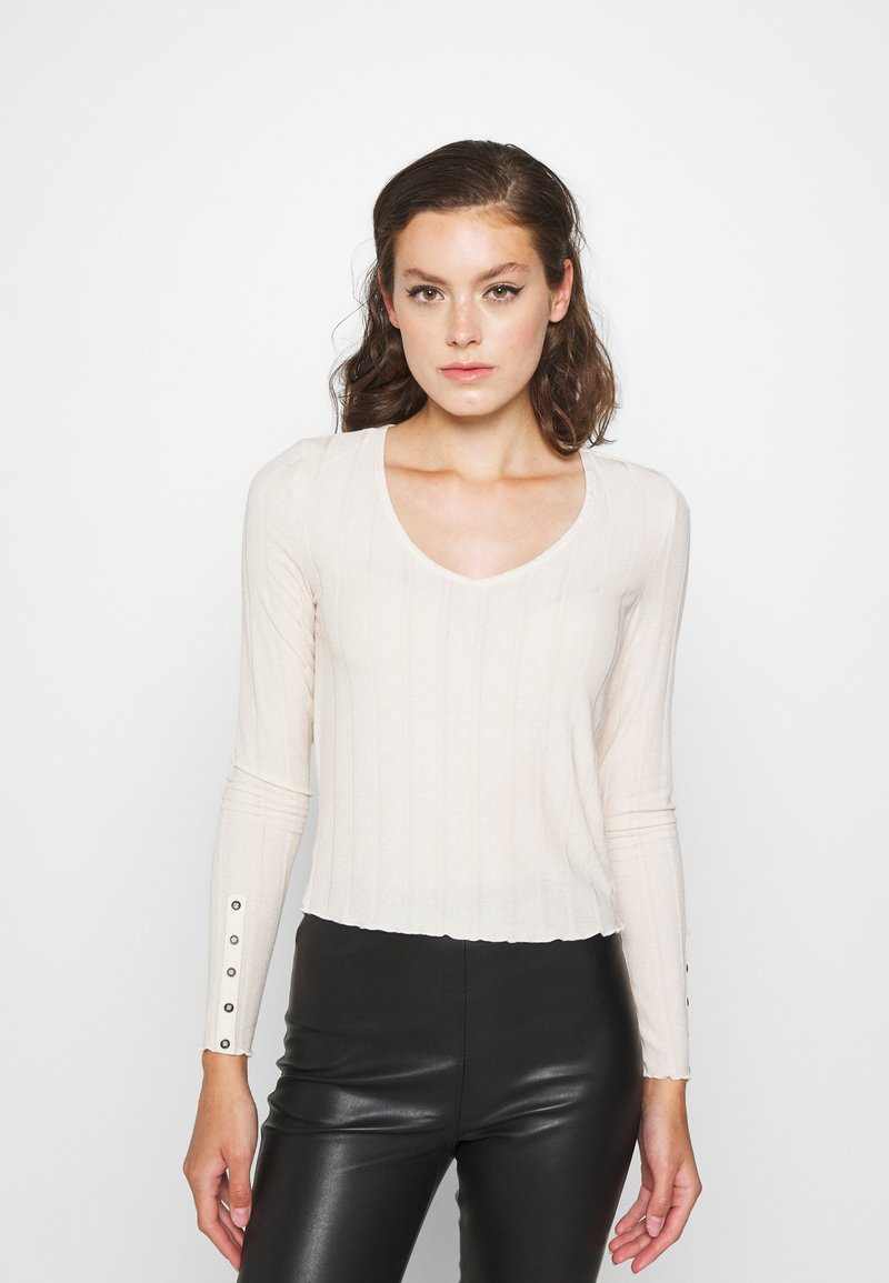 Pieces - PCSAOREM - Long sleeved top - whitecap gray