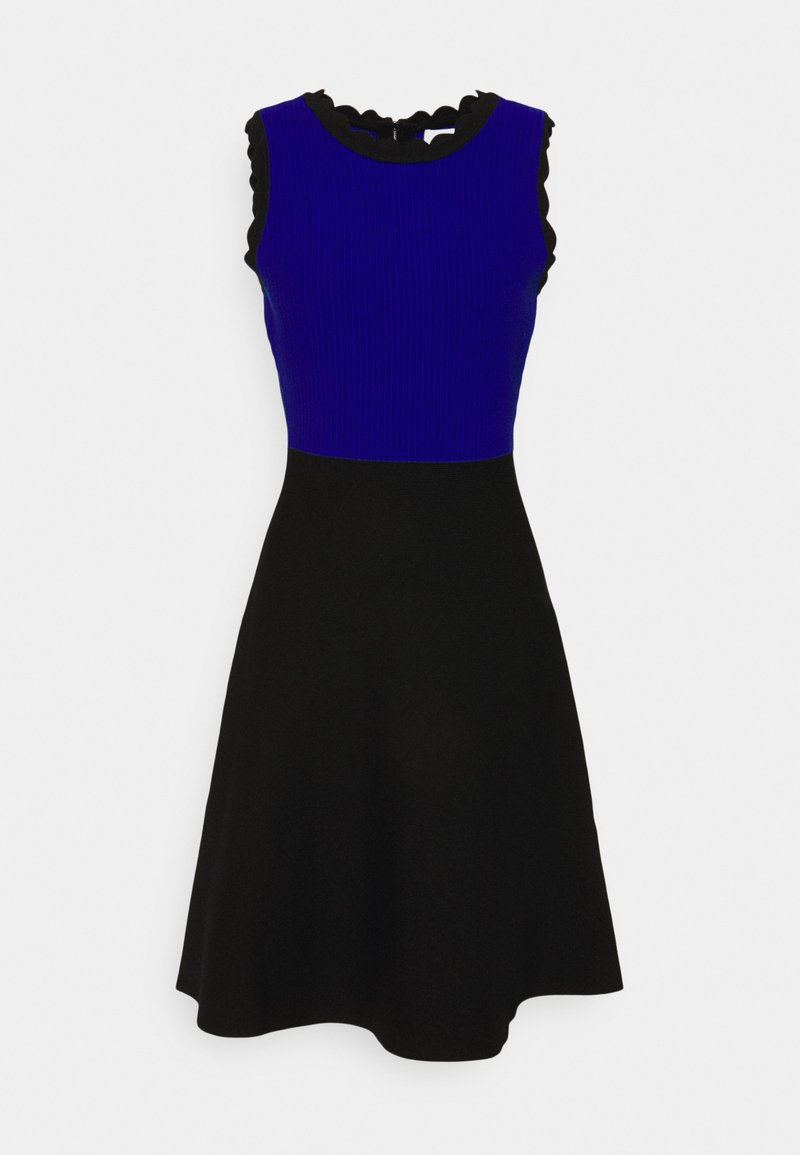 Milly - SCALLOPED COLORBLOCK - Robe pull - black/azure