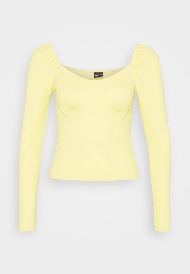 JENNIFER - Camiseta de manga larga - mellow yellow