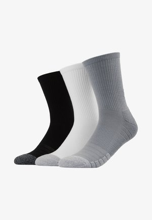 HEATGEAR CREW 3 PACK - Sportsocken - steel/white