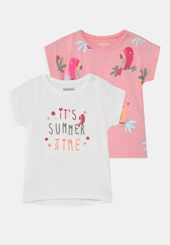 BABY 2 PACK - Print T-shirt - light pink/off white