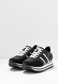 Tamaris - LACE UP - Trainers - black/silver - 4