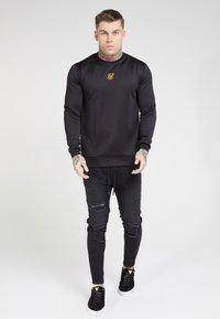 SIKSILK - SIDE ZIP CREW - Long sleeved top - black - 0