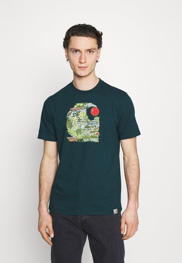 TREASURE - T-shirt imprimé - deep lagoon