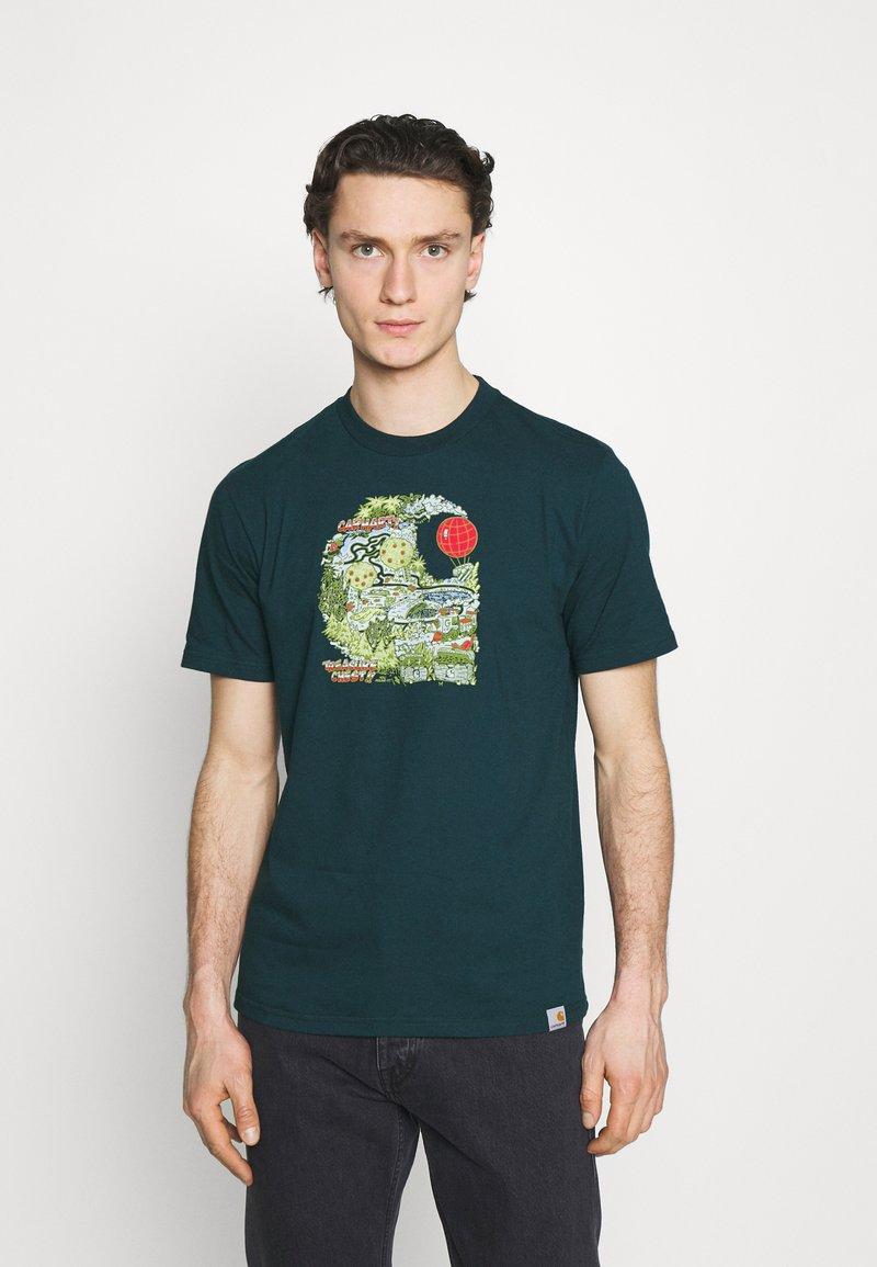 Carhartt WIP - TREASURE - Print T-shirt - deep lagoon