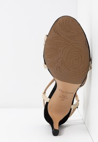 PERLATO - High heeled sandals - or/noir - 6