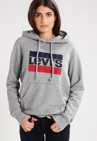 Levi's® - GRAPHIC SPORT - Mikina s kapucí - smokestack heather - 0