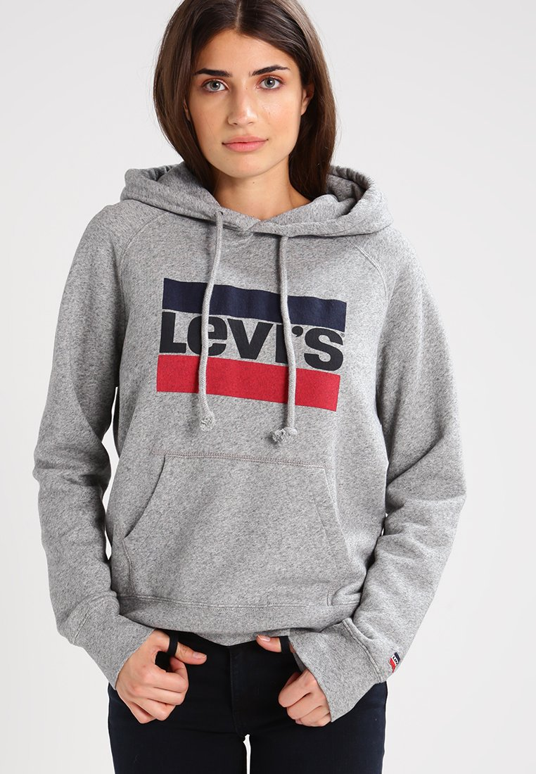 Levi's® - GRAPHIC SPORT - Mikina s kapucí - smokestack heather