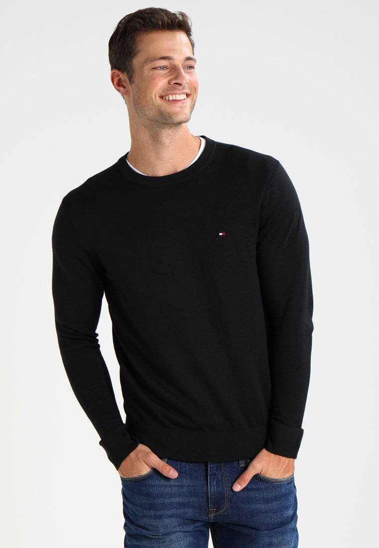 Tommy Hilfiger - C-NECK - Jumper - flag black