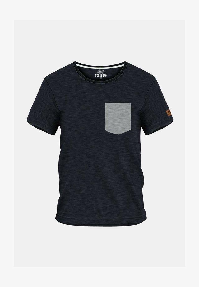AEGIRSON  - Print T-shirt - anthrazit melange