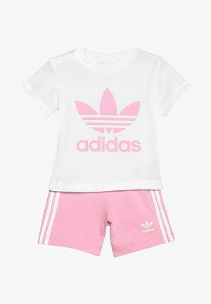 TEE SET - Shorts - white/light pink