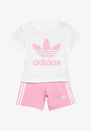 SET UNISEX - Kraťasy - white/light pink