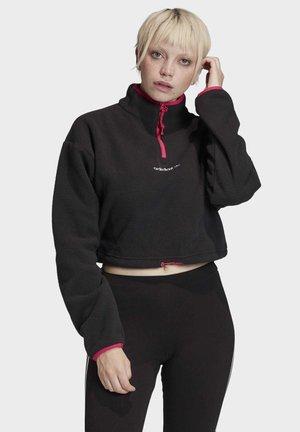 POLAR FLEECE CROP TOP - Fleece jacket - black