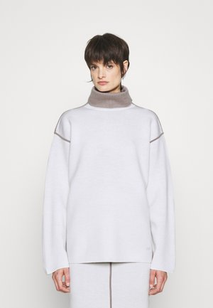 PIPING DETAIL JUMPER - Sweter - white