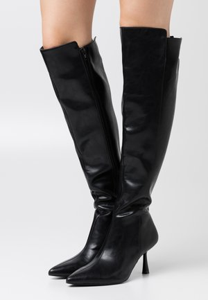 FRONT SEAM TIGHT HIGH BOOTS - Over-the-knee boots - black