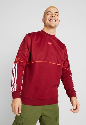 OUTLINE TREFOIL CREW LONG SLEEVE PULLOVER - Sweatshirt - burgundy