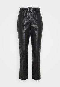 BELTED SEAM DETAIL TROUSER - Pantalones - black