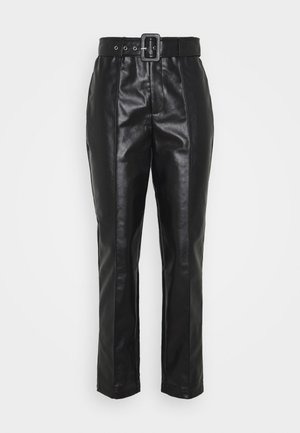 BELTED SEAM DETAIL TROUSER - Pantaloni - black