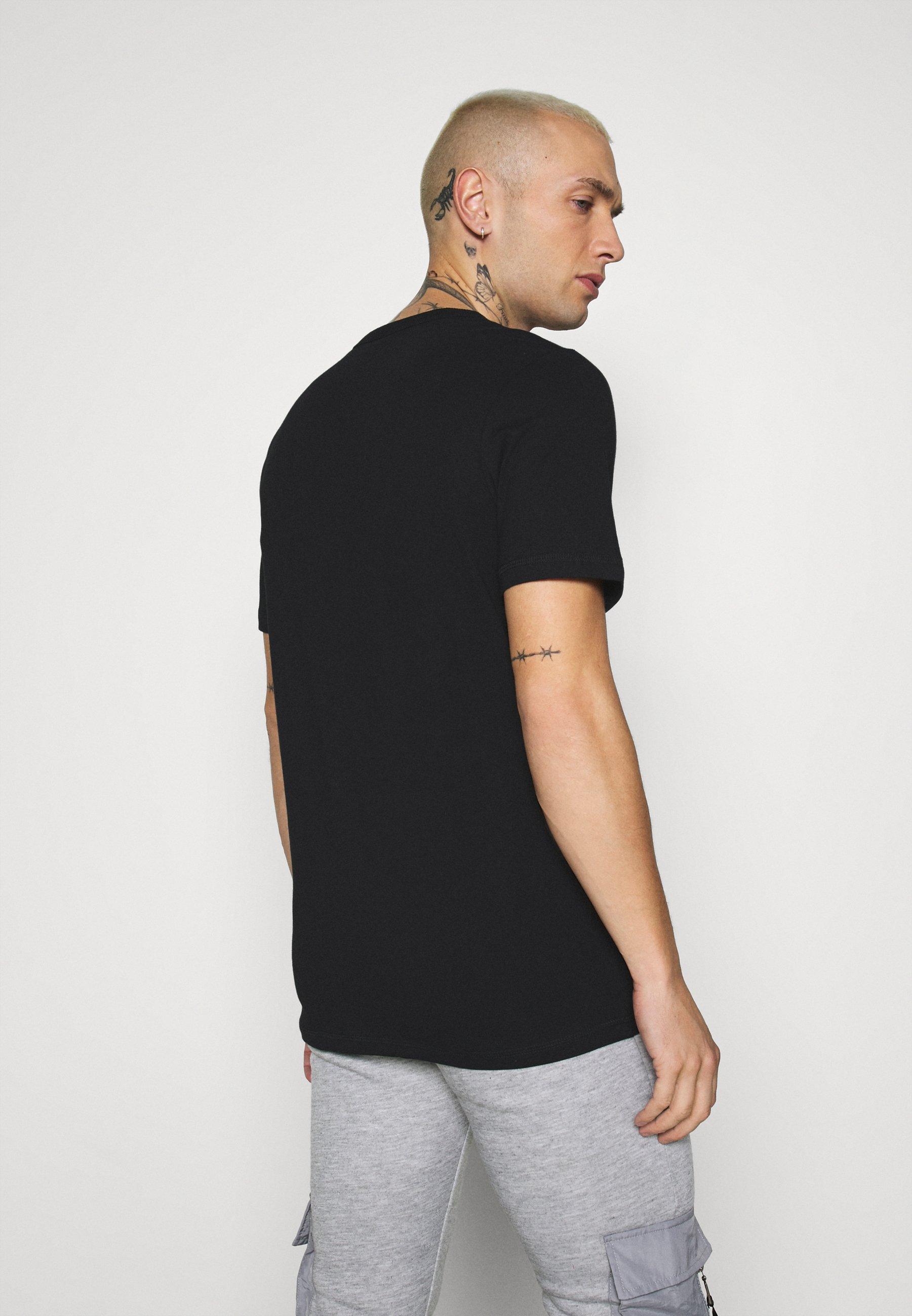 Jack & Jones JCOCAMO TEE CREW  NECK - Print T-shirt - black bGPPV