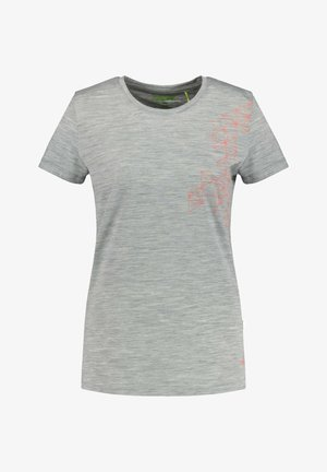 STATHELLE - Print T-shirt - silber mel