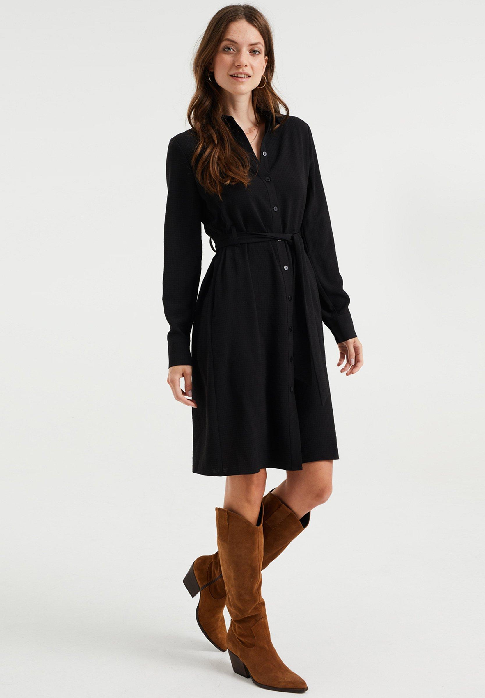Mujer DAMES OVERHEMDJURK MET STRUCTUUR - Vestido camisero