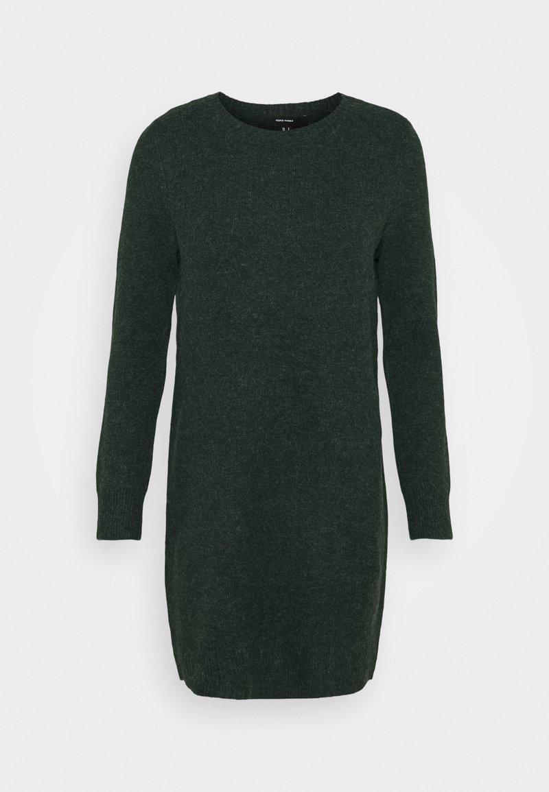 Vero Moda Petite - VMDOFFY O NECK DRESS PETIT - Pletené šaty - pine grove