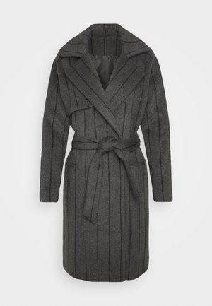 PINSTRIPE - Classic coat - dark grey melange