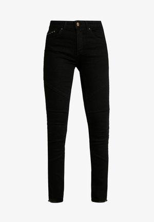 ONLCARMEN REG BIKER LIFE - Jeans Skinny Fit - black denim