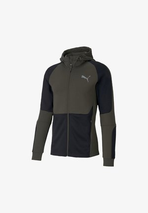 EVOSTRIPE HOODIE - Huvtröja med dragkedja - forest night