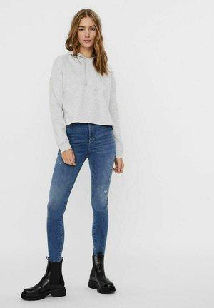 VMNOA  HOOD - Sweatshirt - light grey melange