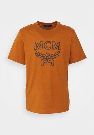COLLECTION SHORT SLEEVES TEE - Print T-shirt - cognac