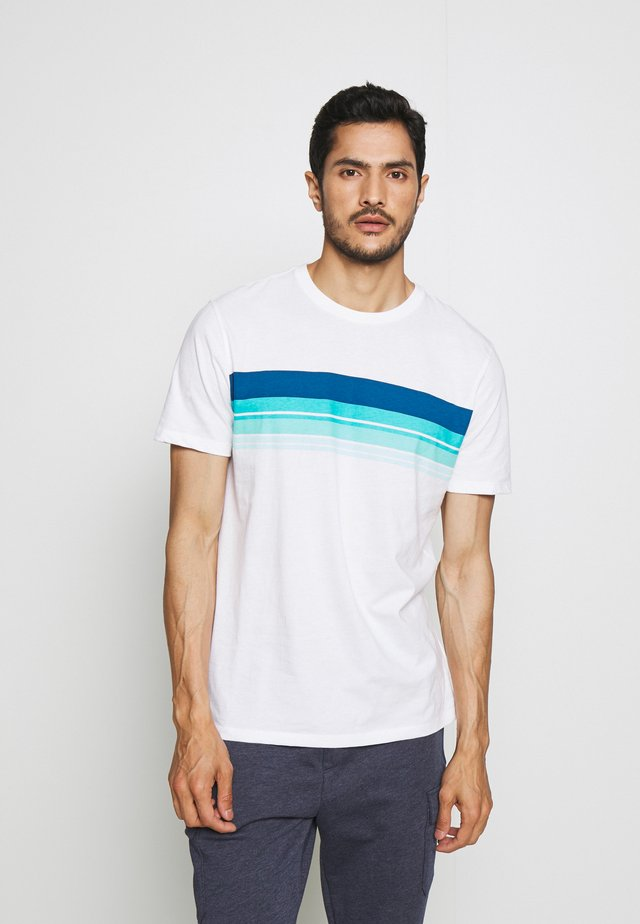 CREW CHEST STRIPE - T-shirt print - white global