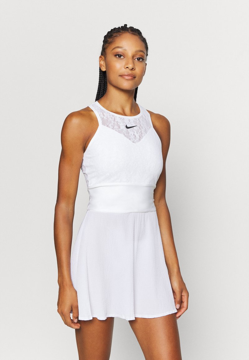 Nike Performance - MARIA DRESS - Sports dress - white/black