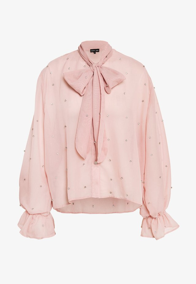 DIAMOND FANCY BOW BLOUSE - Pusero - pink